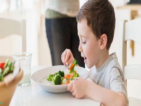 آموزش آداب غذا خوردن به کودک